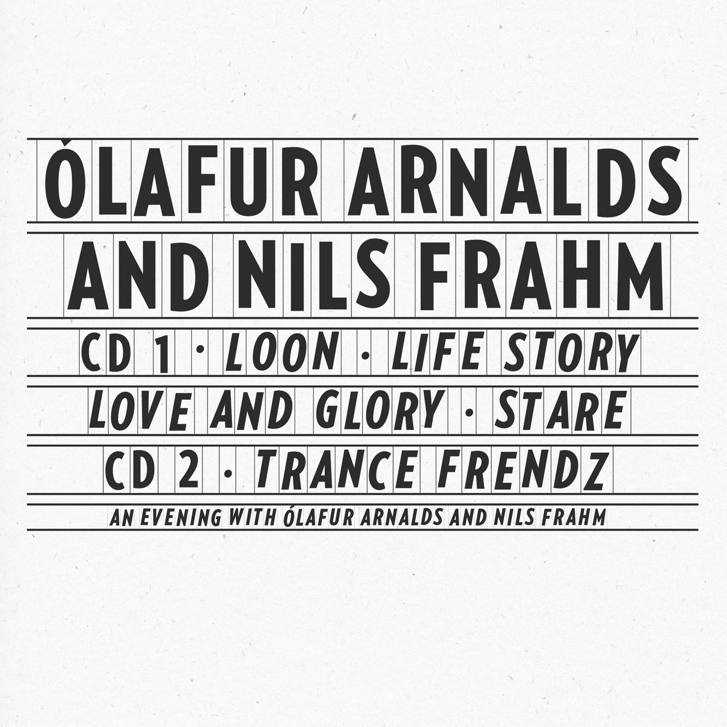 Collaborative Works by Ólafur Arnalds & Nils Frahm - Releases